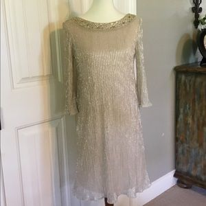 Gold accented dress Jessica Howard